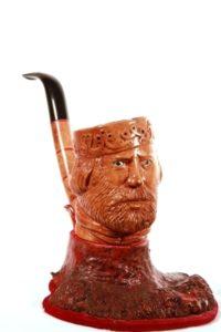 La pipa con il volto di Garibaldi - Opera del maestro Rocco De Giglio