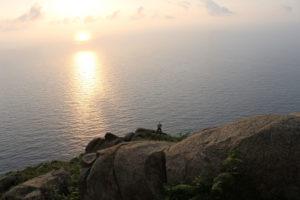 Uno dei paesaggi al tramonto