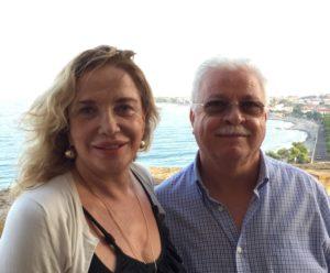 Simona Izzo con l'assessore del Comune di Roseto Capo Spulico Giuseppe Nigro
