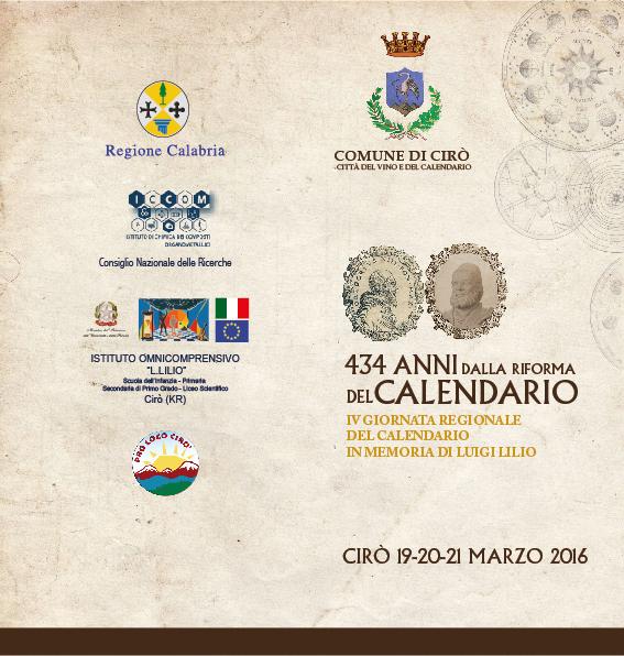 Riforma Calendario Gregoriano.Ciro Ricorda L Astronomo Luigi Lilio Con La Celebrazione