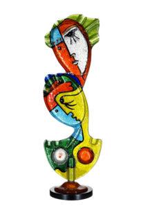 677- AMANTI, 2012 scultura in vetro cm