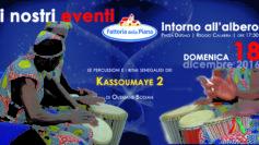 """Reggio: i suoni e i colori della pace con i """"Kassoumaye 2"""" domenica 18 dicembre intorno all'albero di Piazza Duomo"""