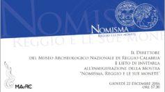 """Taglio del nastro per la mostra """"Nomisma. Reggio e le sue monete""""."""