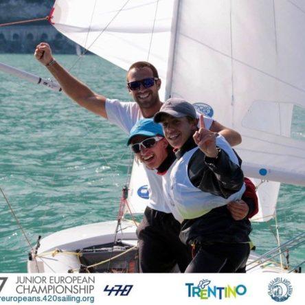 Sailing, GOLD again for Demetrio Sposato (Crotone) in the European 420 junior class championship, under 17