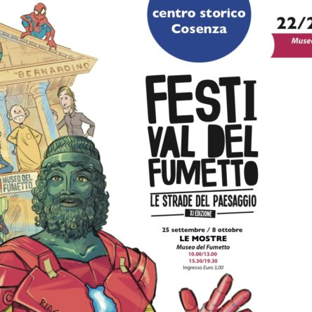 "September 22nd, crime themed comics on exhibition at the ""Le Strade del Paesaggio"" Festival  in Cosenza"