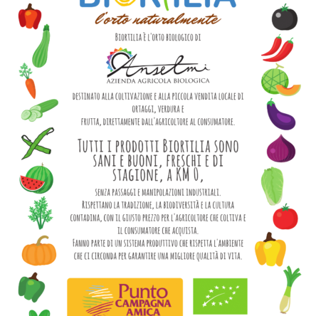 New initiative, BIORTILIA: fresh from farm to table