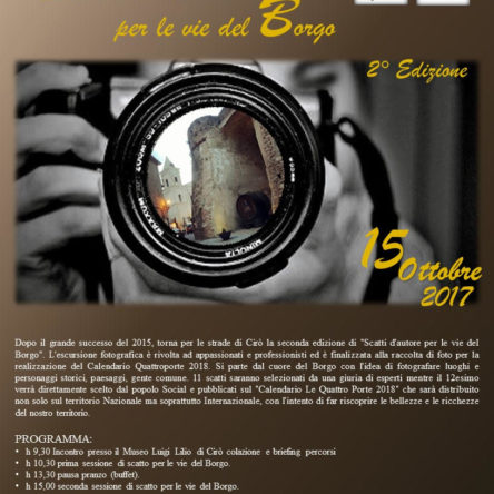 Cirò is ready for street photography with the 2nd edition of Scatti d'Autore