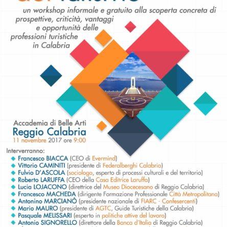 """Tutto pronto per il workshop """"Le professioni del turismo"""""""