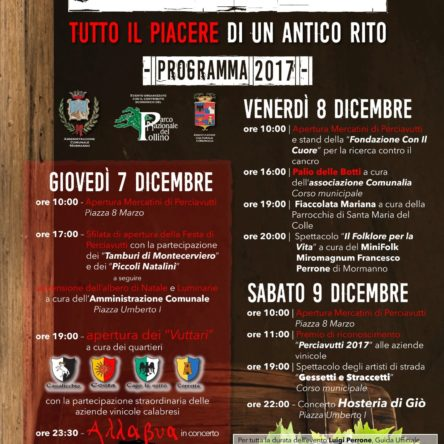 In Mormanno the Festa of Perciavutti begins December 7th