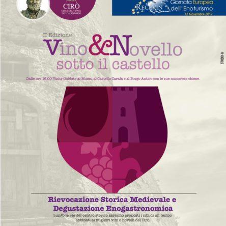 """""""Vino & Novello sotto il castello"""", Cirò aderisce alla giornata europea dell'enoturismo"""