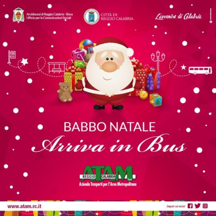"Santa arrives in Reggio on The ""Babbo Bus"""