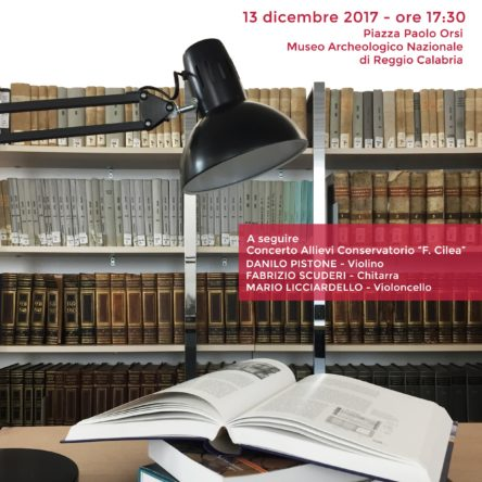 Inauguration of the library of the Archaeological Museum of Reggio Calabria