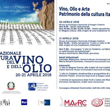 Giornata Nazionale della Cultura del Vino e dell'Olio al MArRC il 20 e 21 aprile