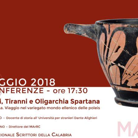 Legislatori, Tiranni e Oligarchi di Sparta, al MArRC!
