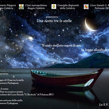 """(Ita) Mito e scienza al Planetario in """"Una notte sotto le stelle"""""""
