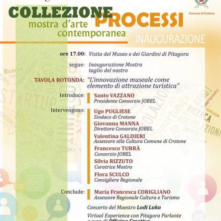 """Il 9 luglio al Museo Pitagora di Crotone inaugurazione della collezione d'arte """"Processi"""""""
