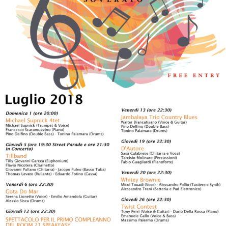 (Ita) Al ROOM 21 di Soverato continua anche a luglio la musica dal vivo