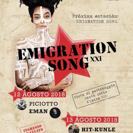 EMAN, PICCIOTTO, HIT KUNLE, ORIGINAL SICILIAN STYLE al via il 12 agosto la XXI edizione di EMIGRATION SONG