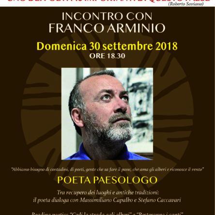 (Ita) Franco Arminio al Mulinum tra dialogo e reading poetico – Domenica 30 settembre ore 18.30 c/o Mulinum San Floro (CZ)