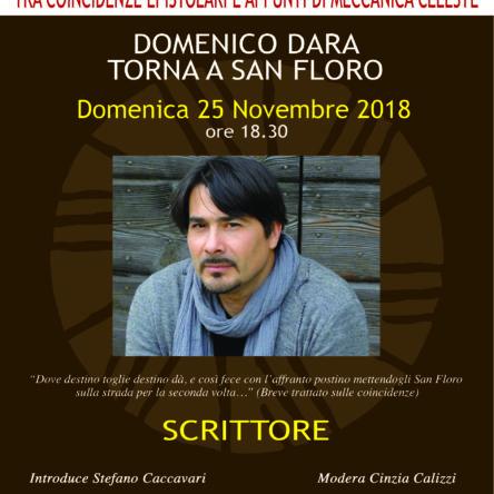 Lo scrittore Domenico Dara torna a San Floro, ospite del Mulinum