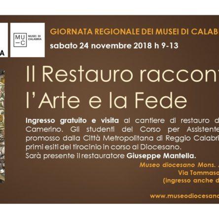 Sabato 24 novembre il Museo diocesano di Reggio Calabria aderisce alla Giornata regionale dei Musei