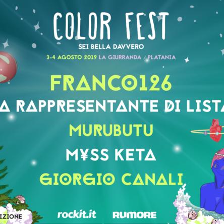 """(Ita) COLOR FEST 7 """"Sei bella davvero"""" 3/4 agosto – Platania (CZ)"""