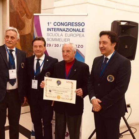 Lo chef Gaetano Alia riceve il titolo di Sommelier Onorario