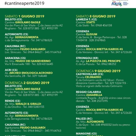 In Calabria continua la festa del vino e della valorizzazione dei territori