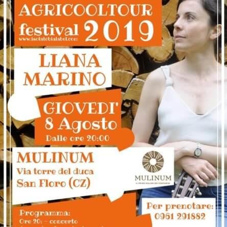(Ita) Il Festival Agricooltour fa tappa al Mulinum di San Floro: concerto acustico di Liana Marino