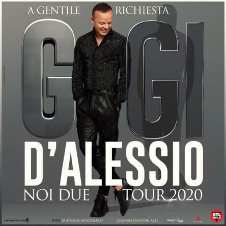 """Gigi D'Alessio – rinviato in autunno il """"NOI DUE TOUR 2020"""""""