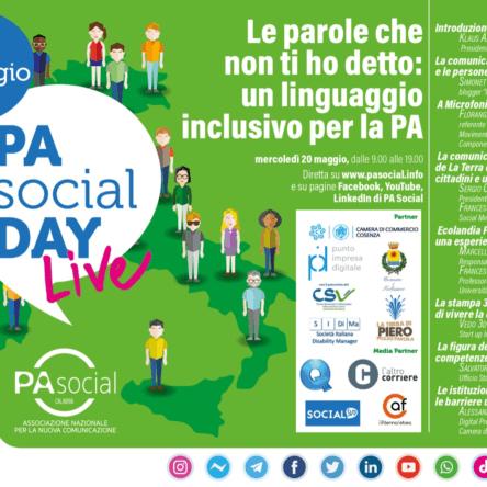 (Ita) PA Social Day: il 20 maggio in tutta Italia il racconto della comunicazione digitale