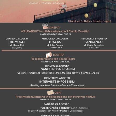 """Rassegna """"GIARDINO SONORO"""" Luglio/ Agosto 2020"""