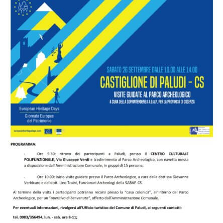 (Ita) Visite guidate al Parco Archeologico di Castiglione di Paludi (CS)