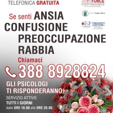 La Task Force emergenza socio sanitaria Covid19 attiva il Servizio di Consulenza Psicologica Telefonica I.A.M.U.!