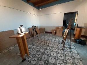 Una stanza della Pinacoteca Andrea Alfano di Saracena