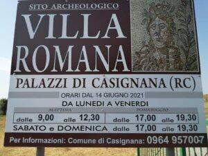 orari sito archeologico villa romana di casignana