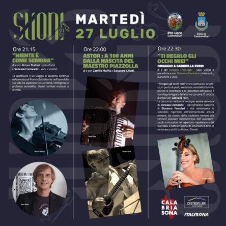 """XVI edizione  """"SUONI"""" FESTIVAL ETNO JAZZ dal 27 al 30  LUGLIO 2021 (Castrovillari)"""